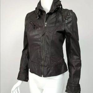 All Saints Black Belvedere Leather Jacket